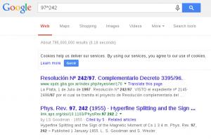 Google for 97^242